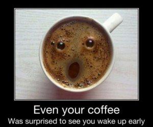 coffee surprised