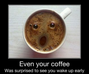 coffee surprised