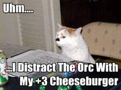 dnd cat cheeseburger