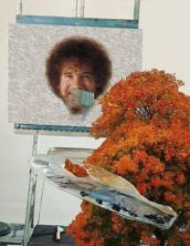 bob ross happy little tree
